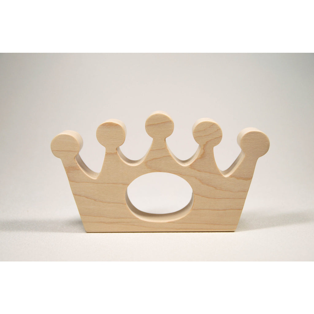 Wooden Baby Teether Royal Baby Crown Teether - Little Wooden Wonders
