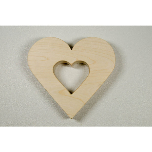 Heart Baby Teether Love All Natural and Eco Friendly - Little Wooden Wonders