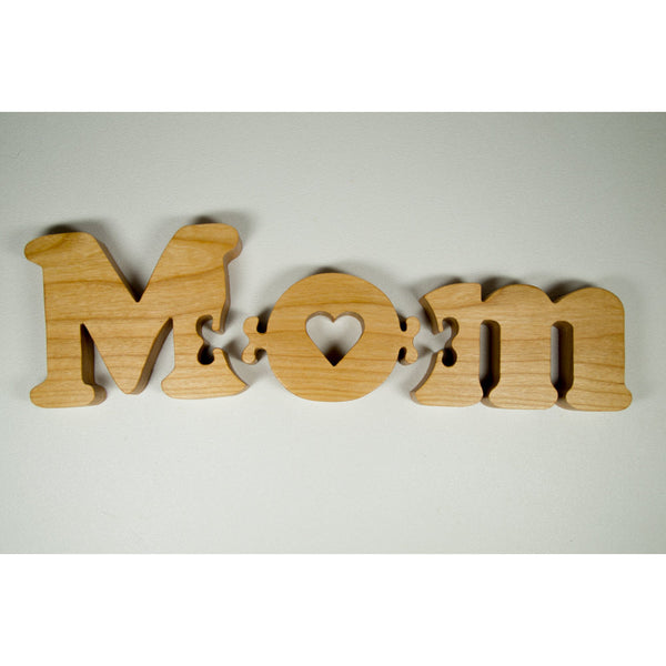 Mothers day mom wooden puzzle gift for Mothers day, new moms or baby shower - Little Wooden Wonders