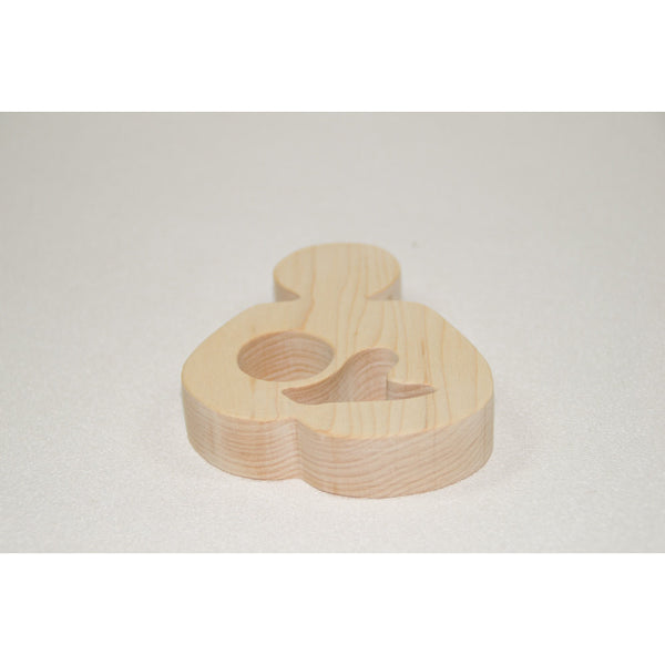 Breastfeeding Wooden Teether Natural Wood Baby Toy - Little Wooden Wonders