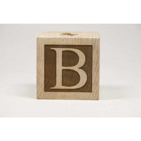 Personalized Wooden Baby Block, 2 inch Newborn Baptism Gift Custom Engraved - Little Wooden Wonders