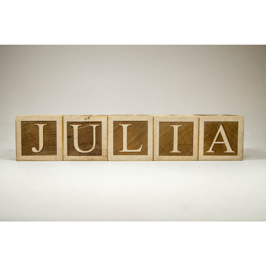 personalized wood name blocks custom letter blocks handmade