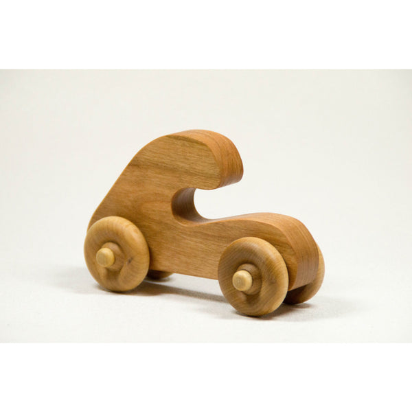 Wooden Toy Push Toy Car Toddler and Baby Childrens Toy, Personalized - Little Wooden Wonders
