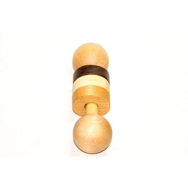 Wooden Baby Rattle - Personalized Wood Rattle - Personalized Baby Toy Baby Gift - Little Wooden Wonders