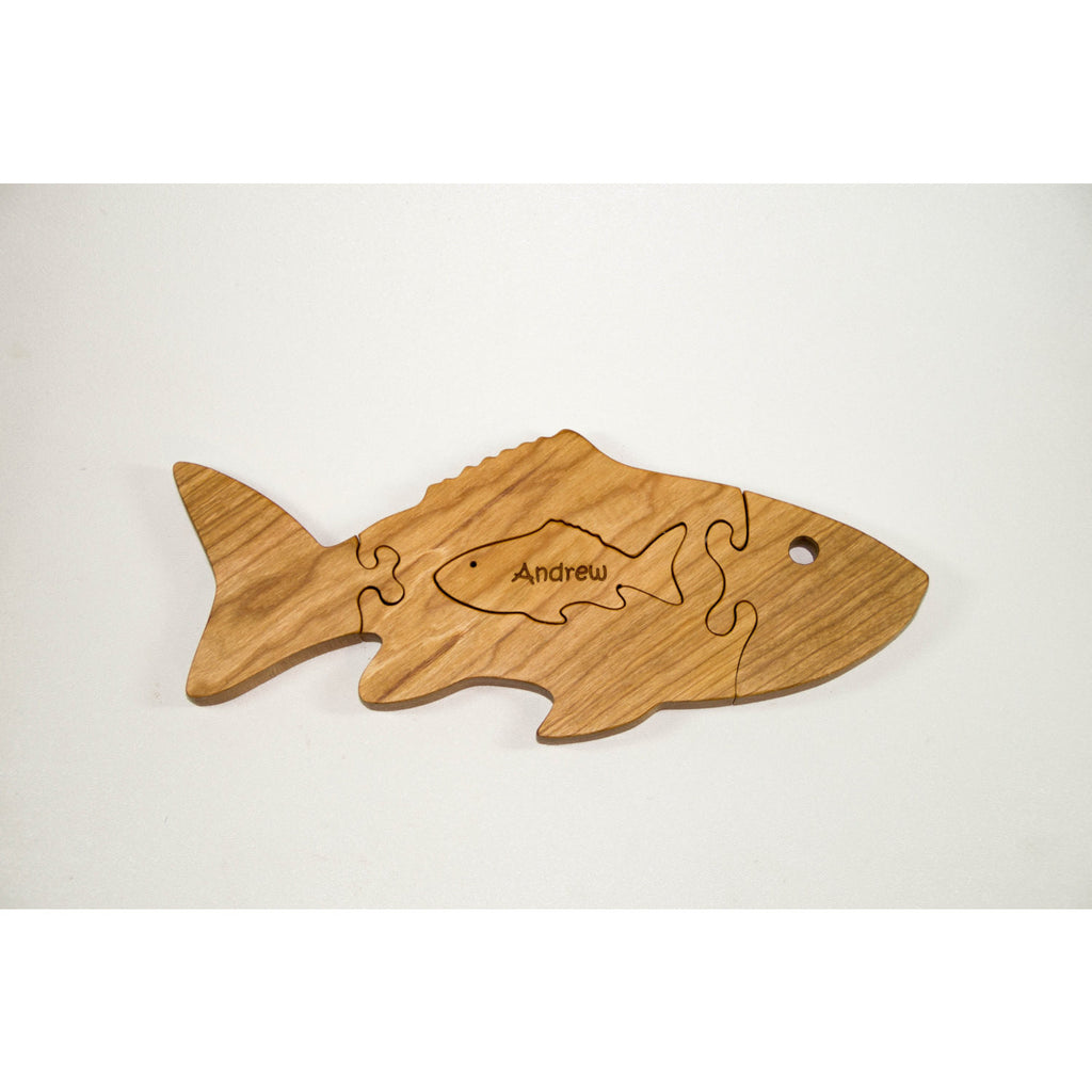 Wooden Puzzle - Fish Puzzle - Children's Toy - Personalized for Free - Little Wooden Wonders