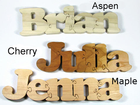 Wooden Name Puzzle - Personalized Baby Gift Name Puzzle, Wooden Letter Puzzle, Personalized Gift - Handmade