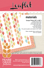 Load image into Gallery viewer, #119 - Leaflet PAPER Pattern