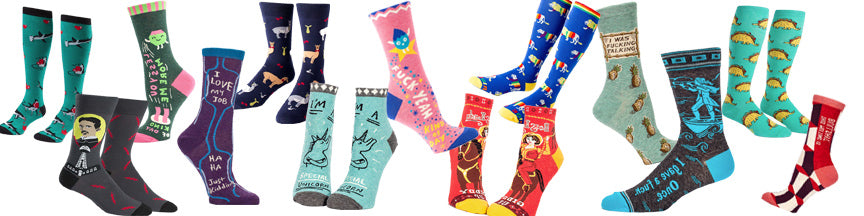 Funny socks for him, funky socks for her, awesome socks for Canada