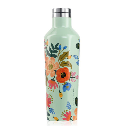Rifle Paper Lively Floral Gloss Mint Canteen 16oz