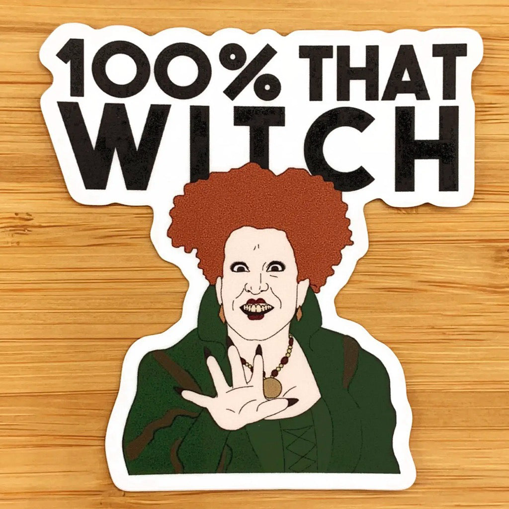 100% That Witch Hocus Pocus Sticker