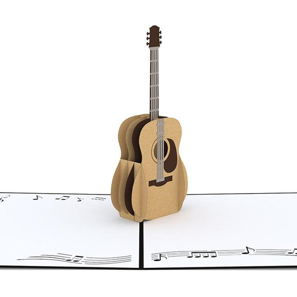 Acoustic Guitar 3D Pop Up Card