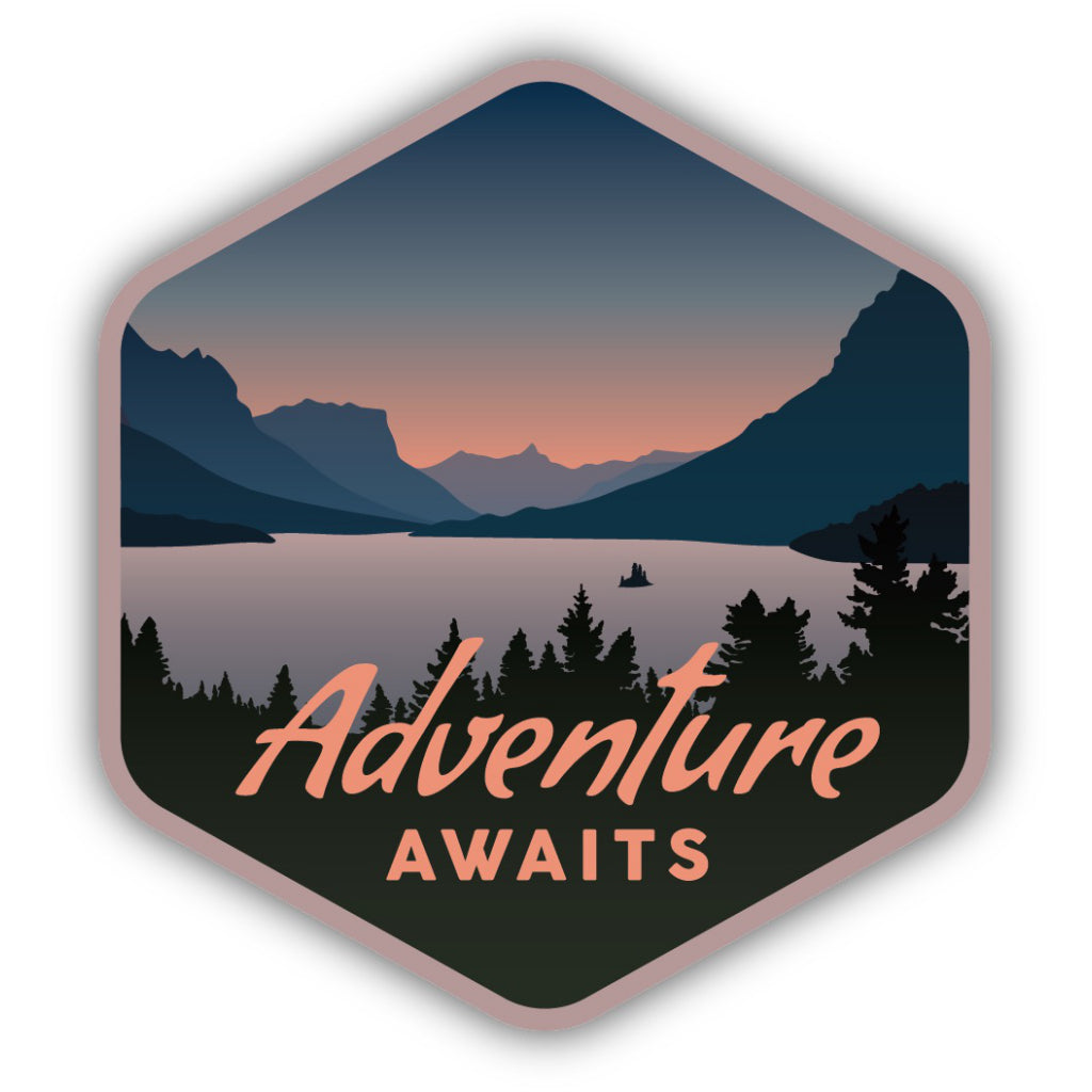 Adventure Awaits Lake Sticker