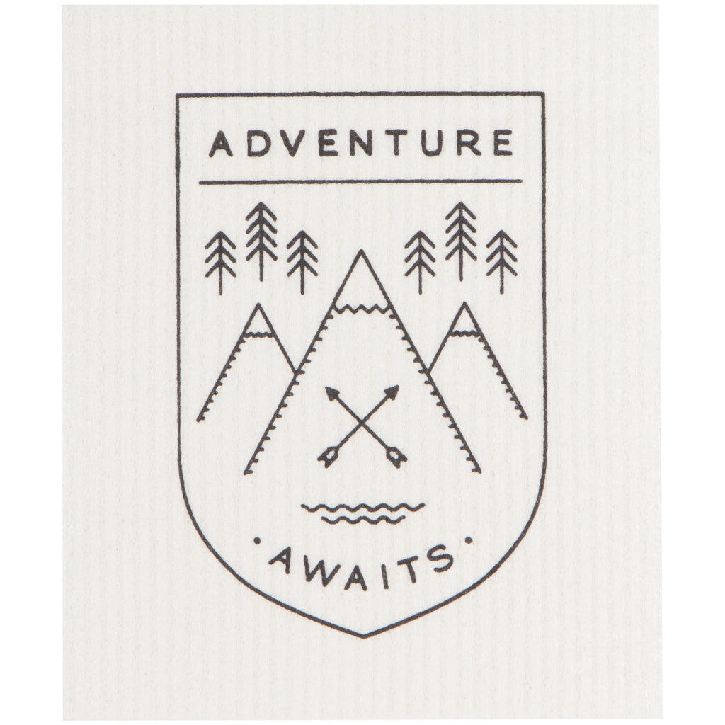 Adventure Awaits Swedish Dish Cloth