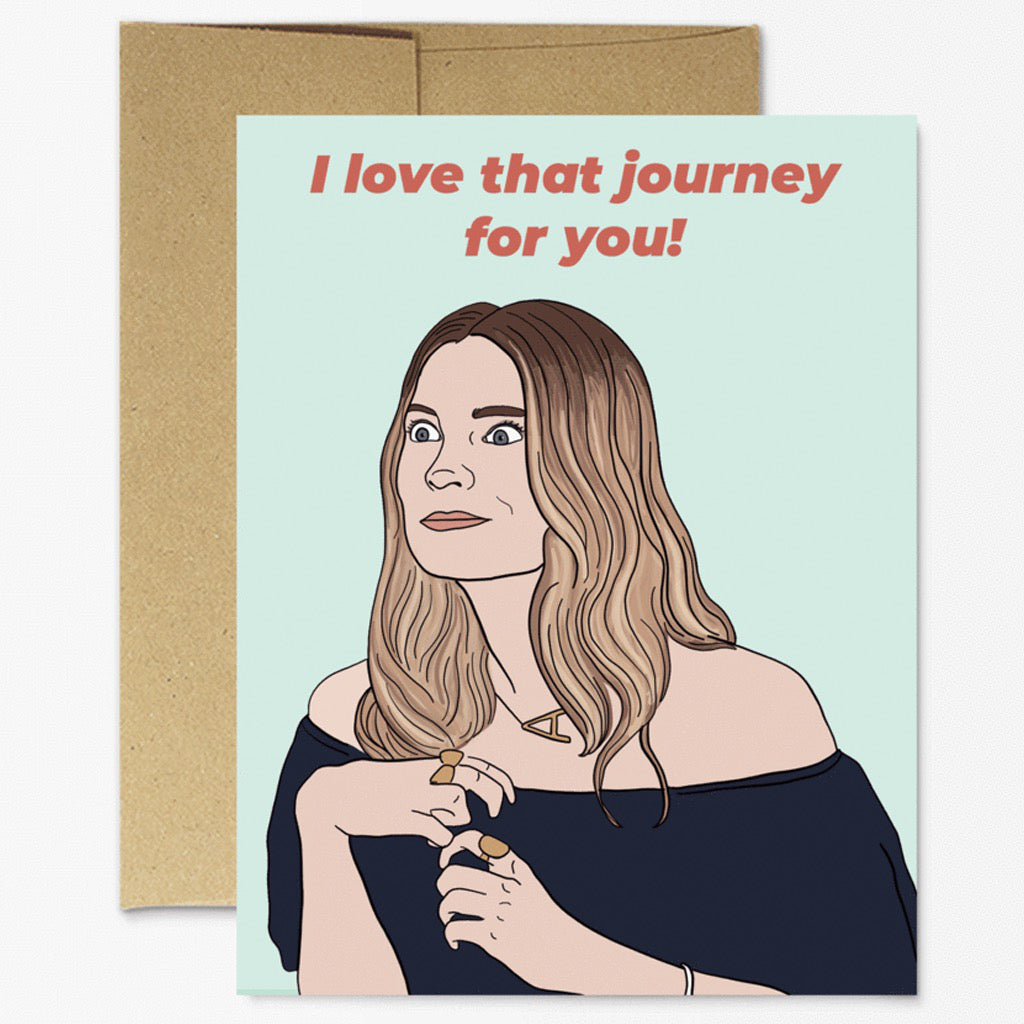 Alexis Rose Love That Journey Card