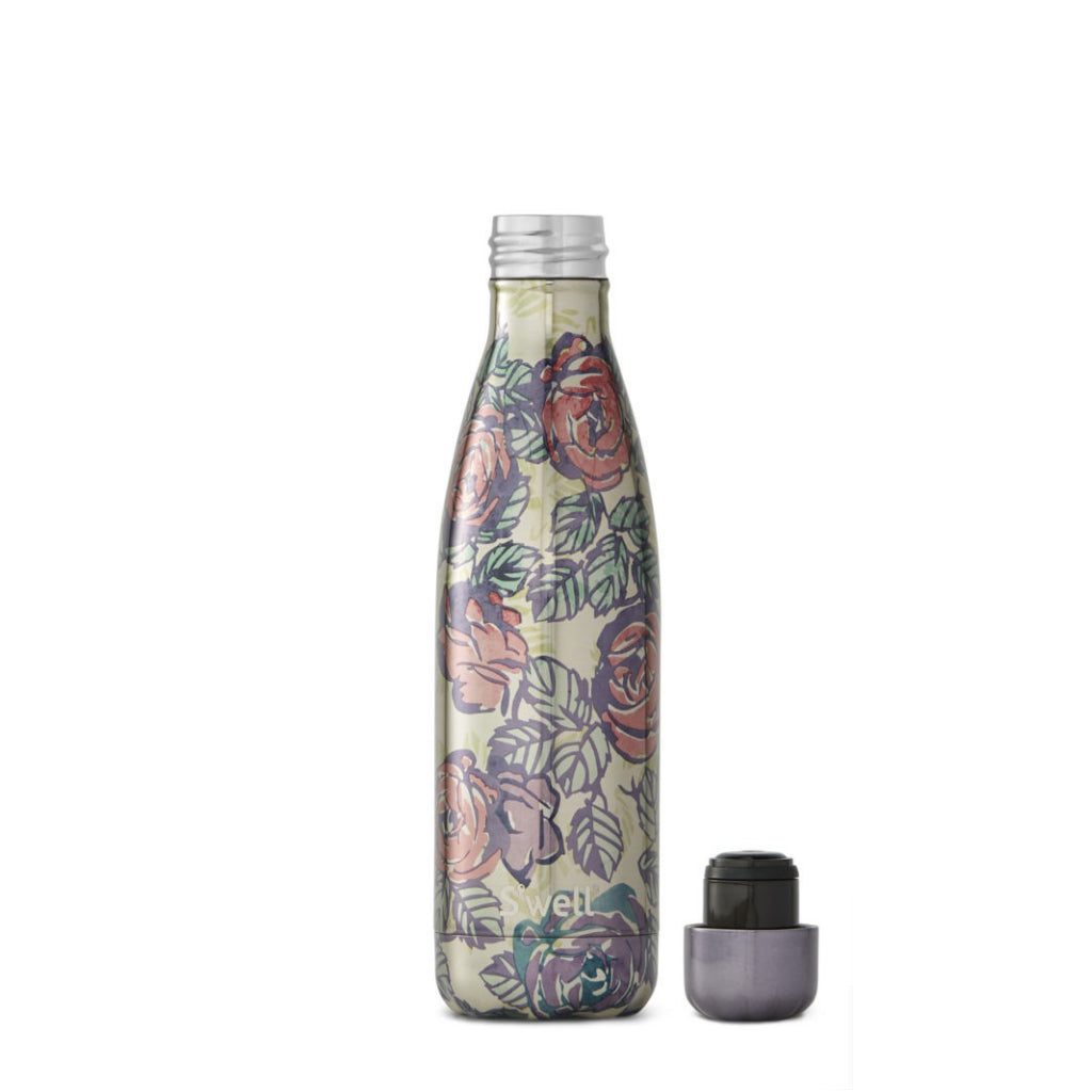 Lid of Alice's Garden Water Bottle 17oz 500ml.