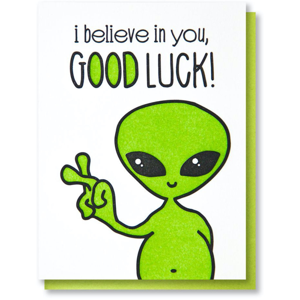 Alien Good Luck Card