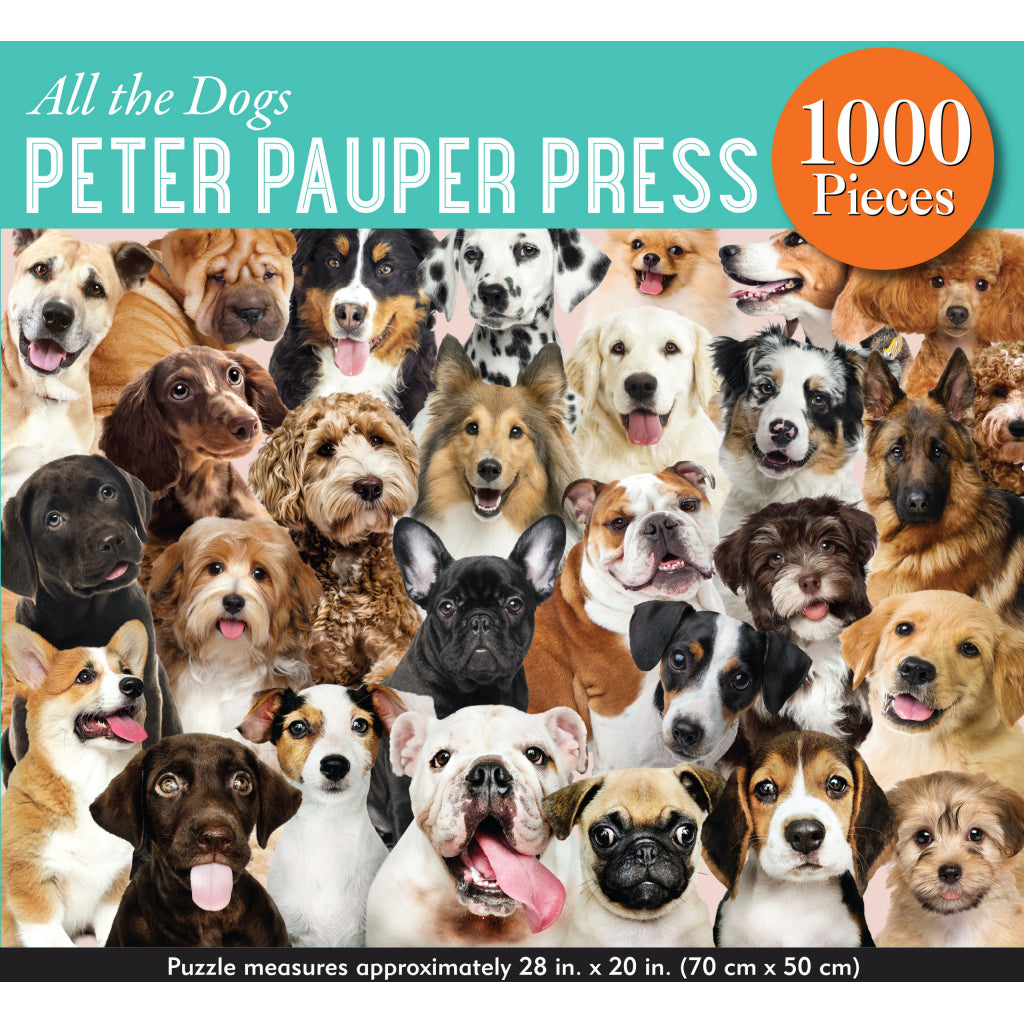 All The Dogs 1000 Piece Puzzle Box