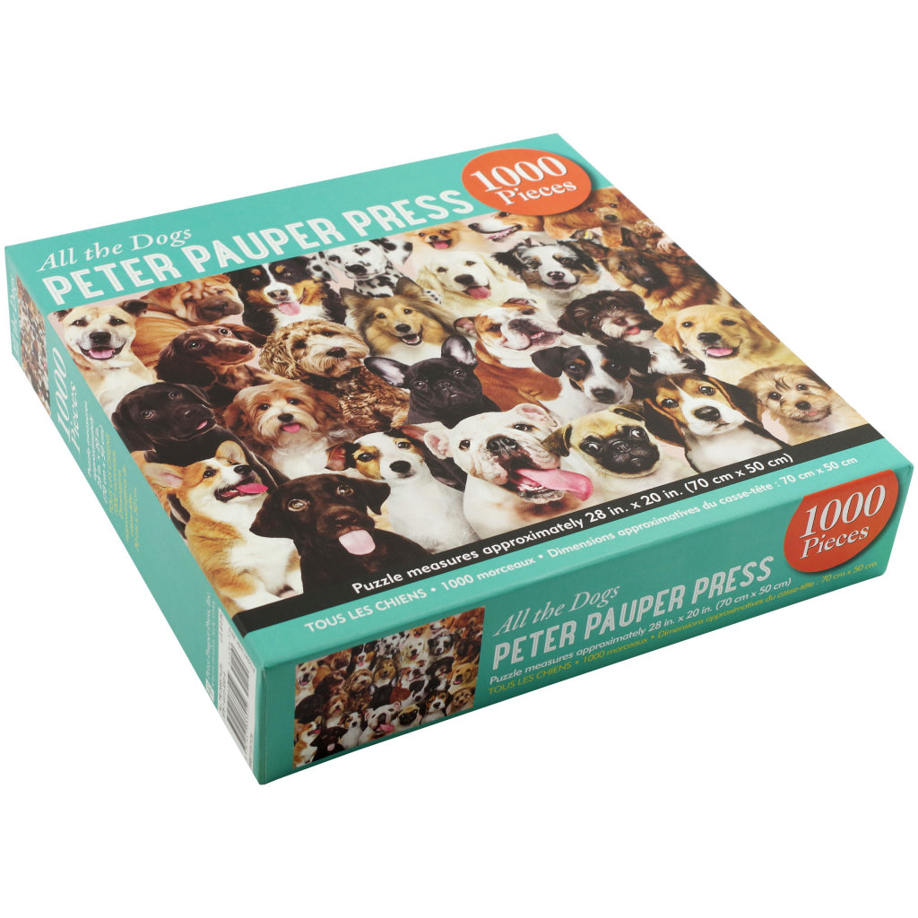 All The Dogs 1000 Piece Puzzle Packaging