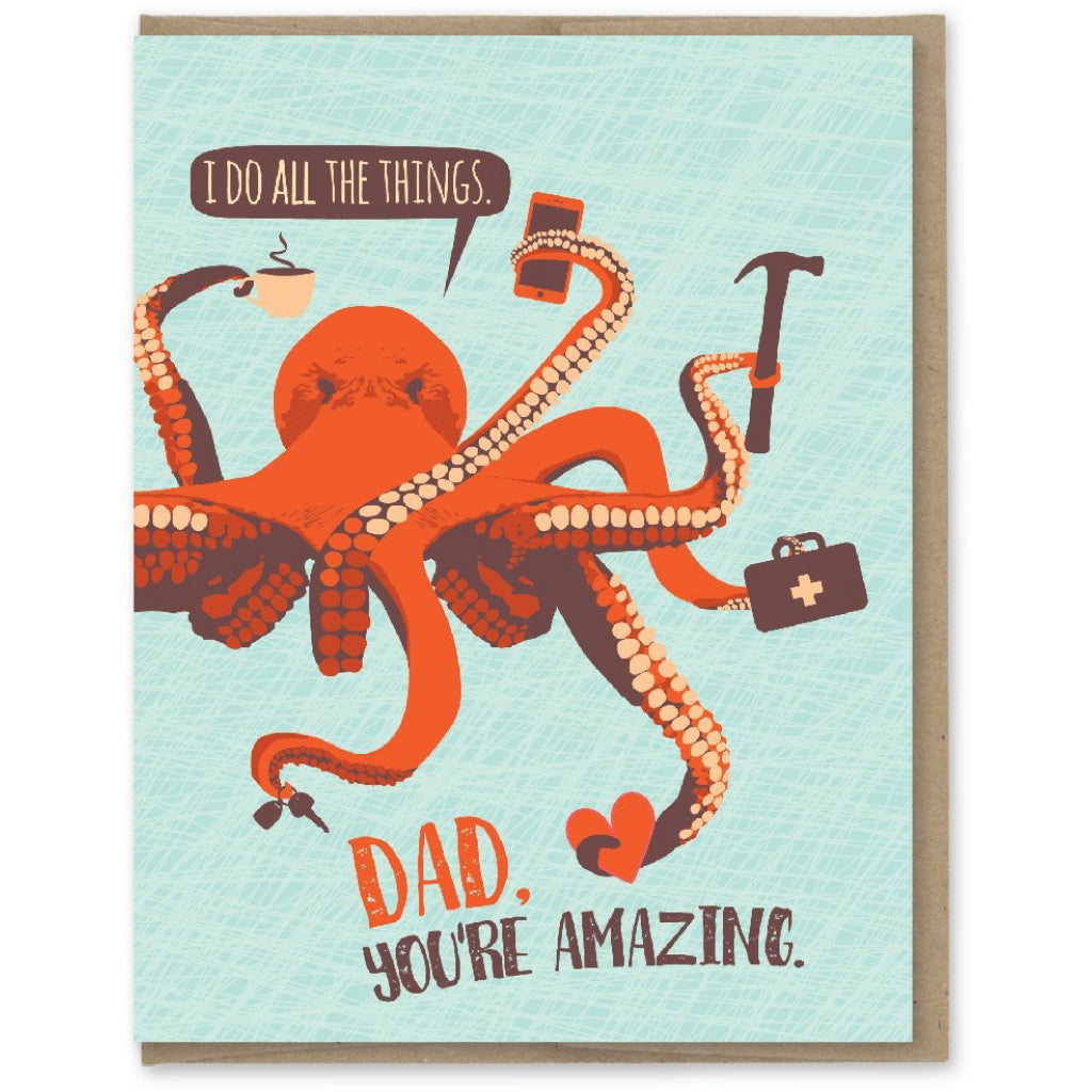 All The Things Octopus Dad Card