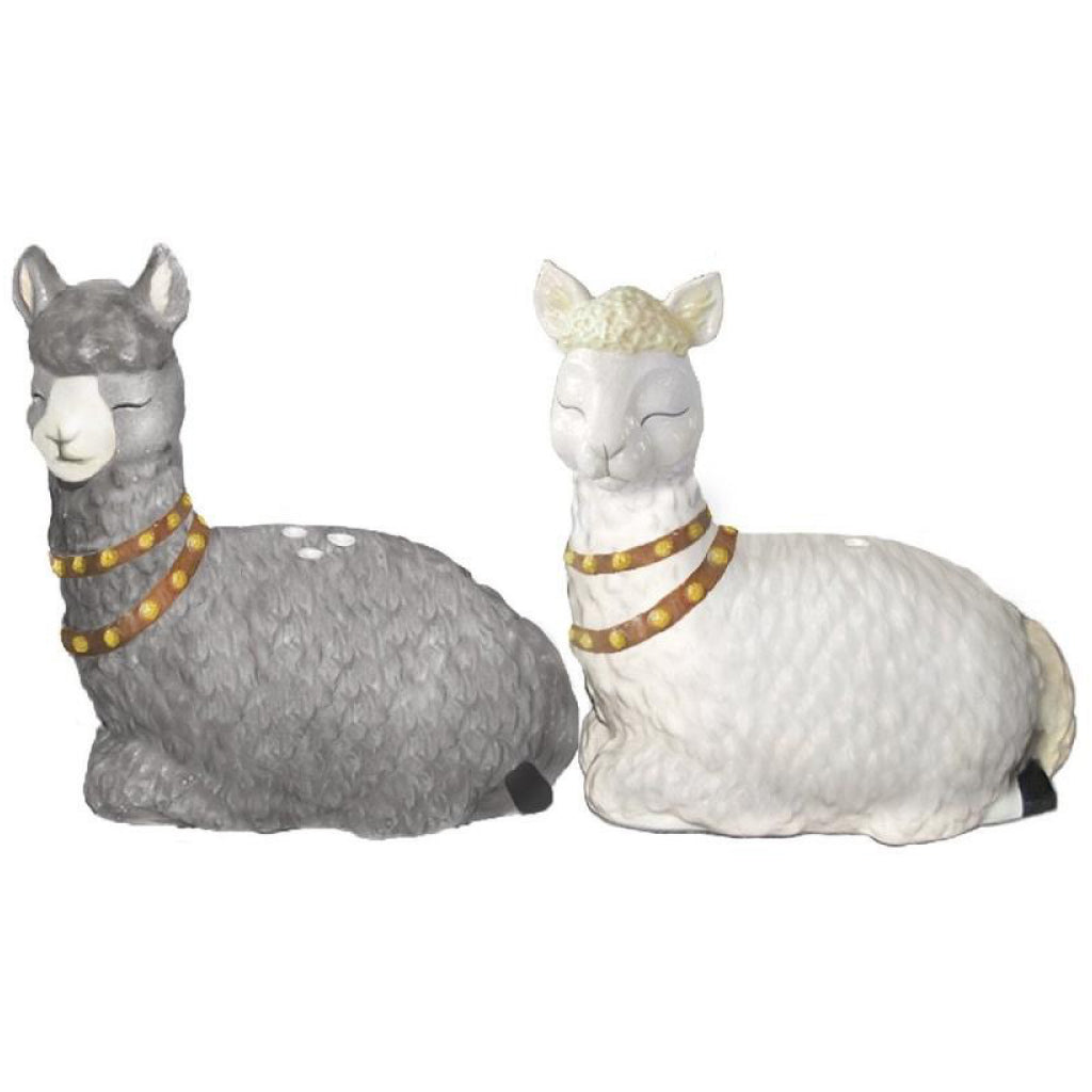 Alpaca Salt & Pepper Shakers