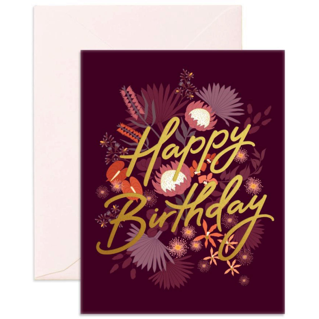 Amaranth Birthday Card