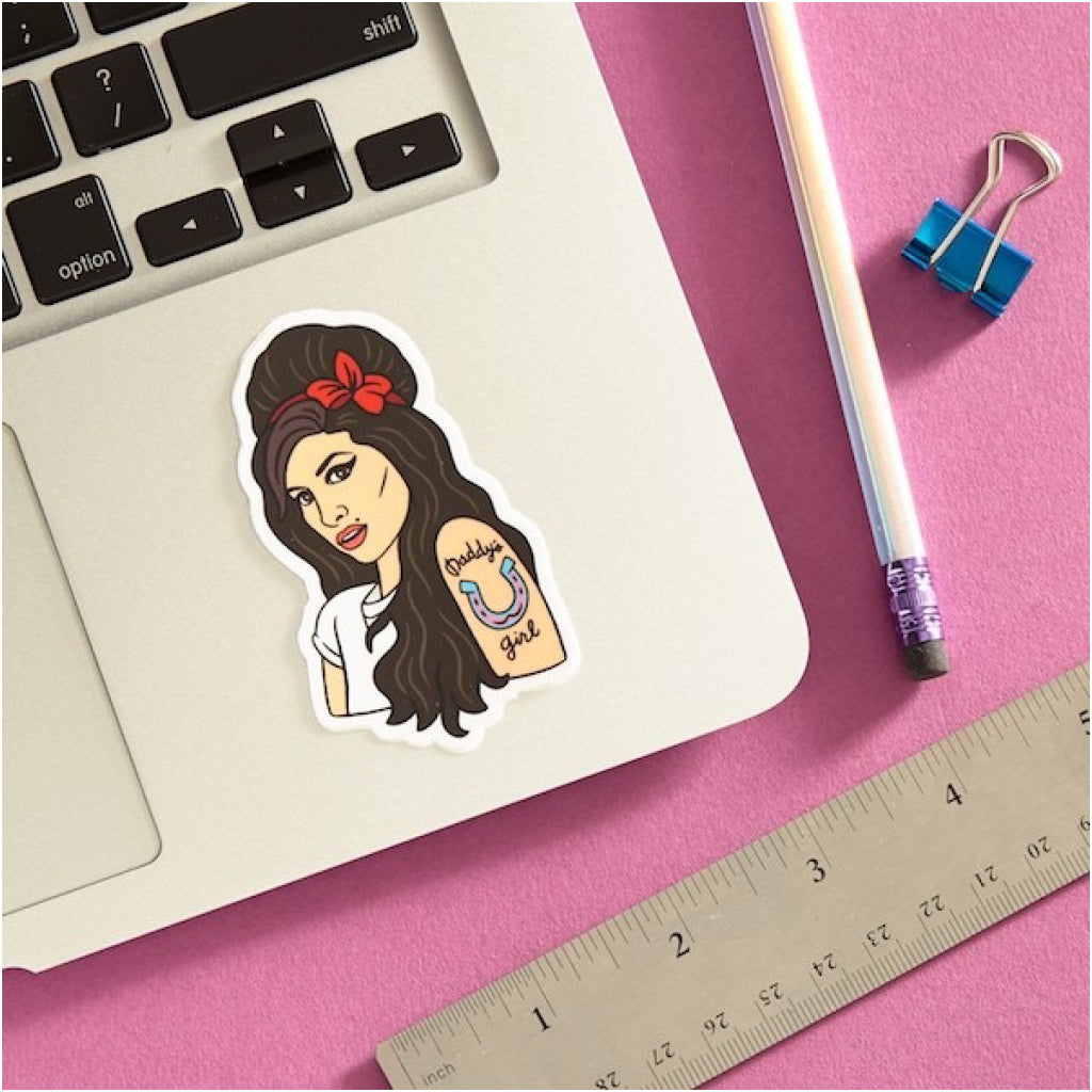 Amy Winehouse Sticker Lifestyle