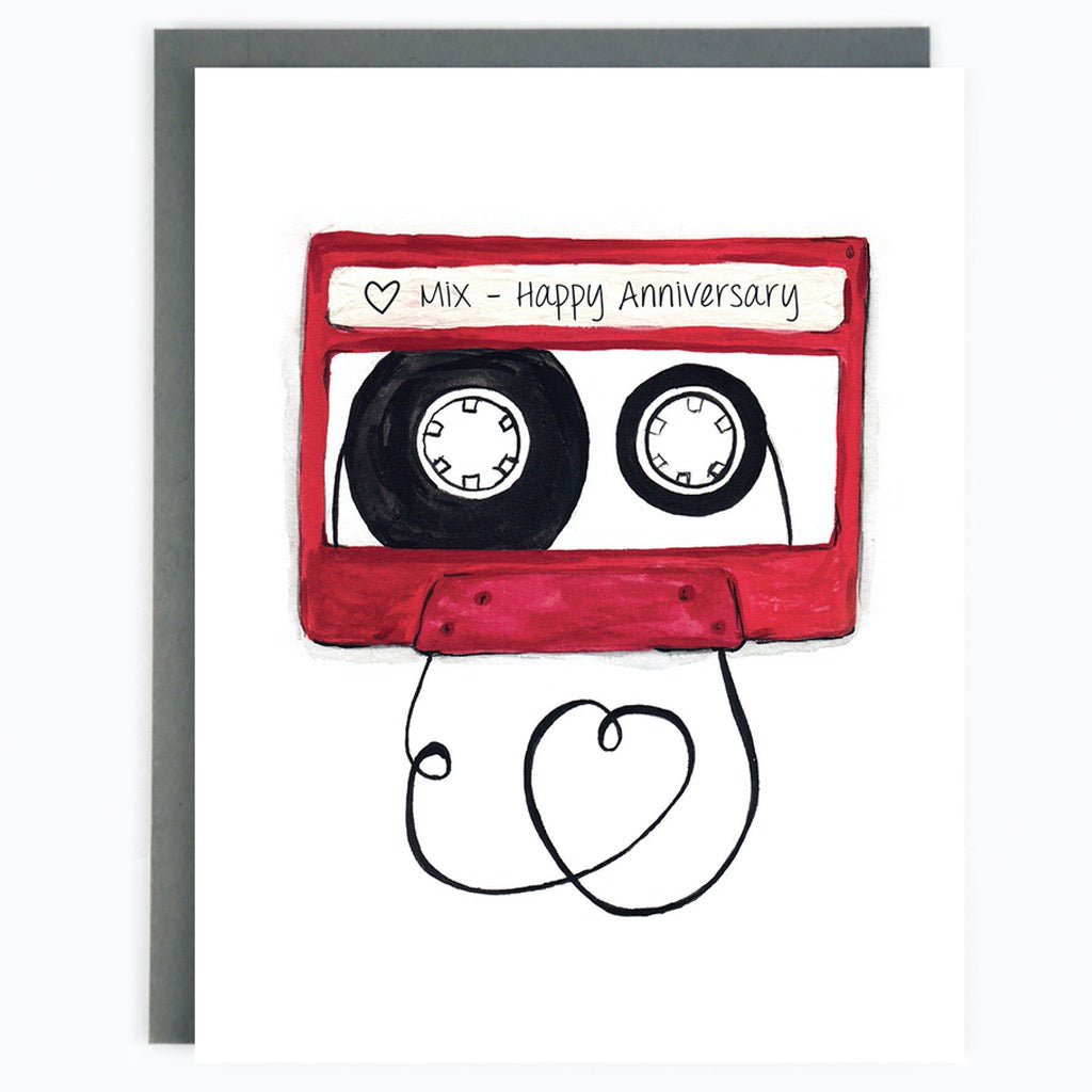 Anniversary Mixtape Card