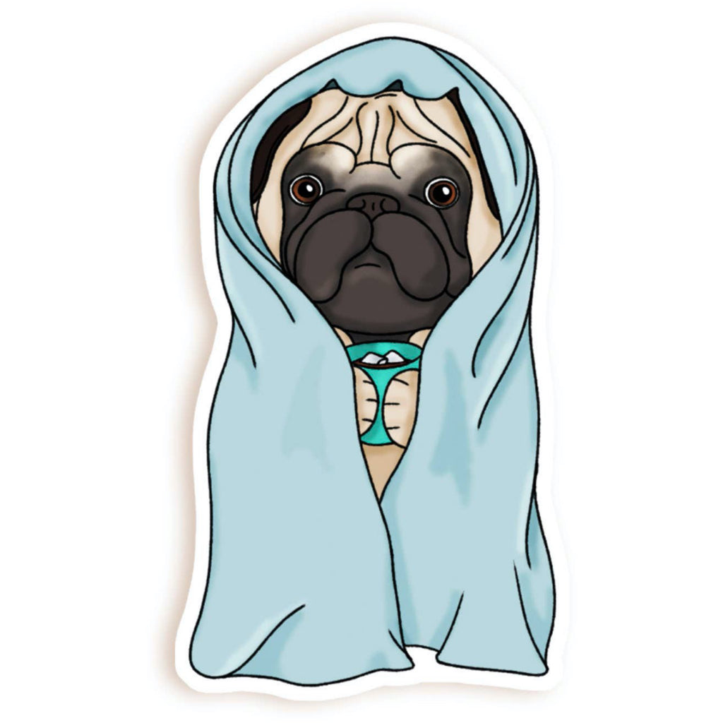 Antisocial Pug Sticker