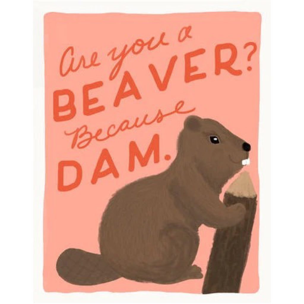 Are You A Beaver Card
