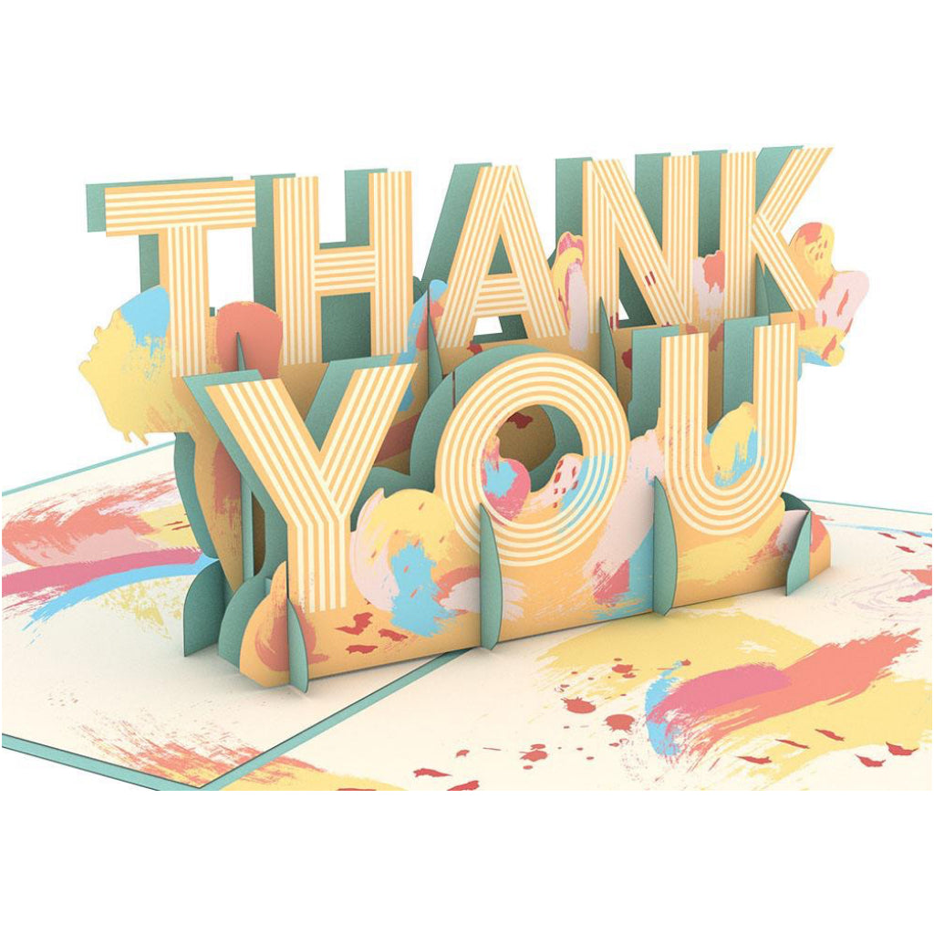Artistic Thank You 3D Pop Up Card