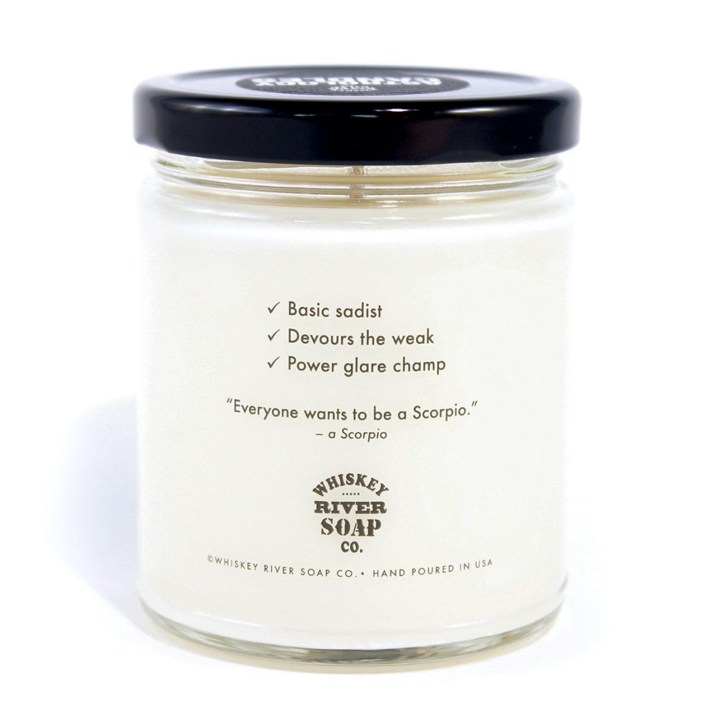 Astrology Candle - Scorpio Back