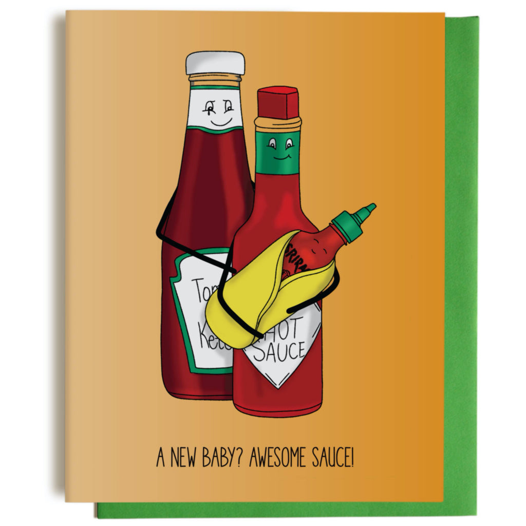 Awesome Sauce New Baby Card
