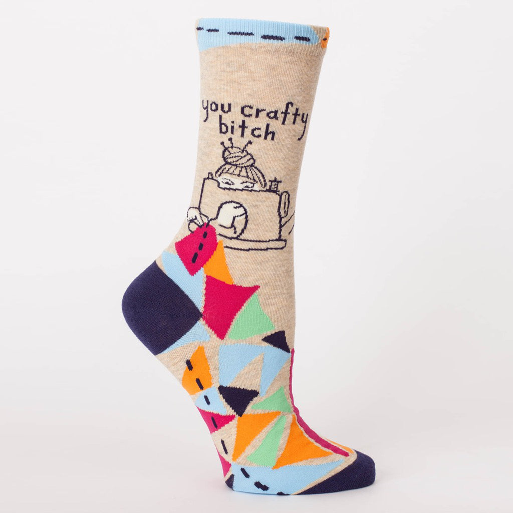 You Crafty Bitch Crew Socks.