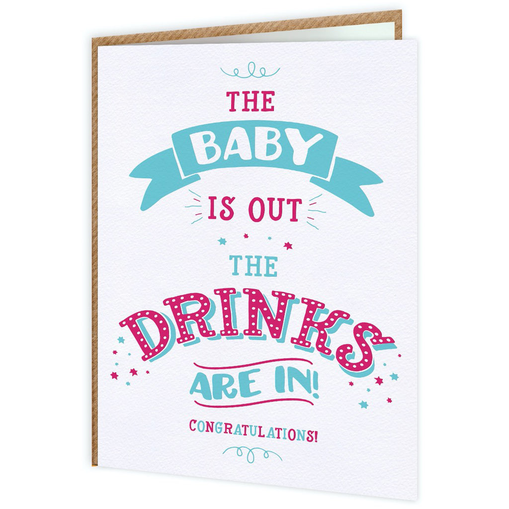 Baby Is Out Card