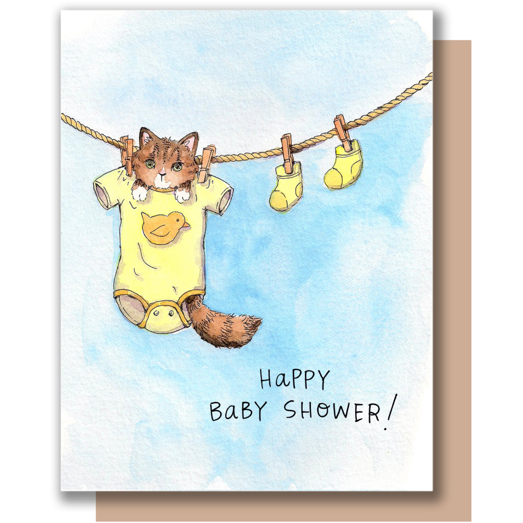 Baby Shower Kitten Card