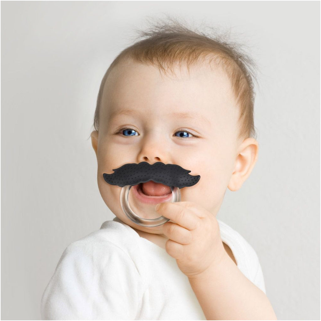 Baby-using-Chill-Baby-Mustache-Pacifier