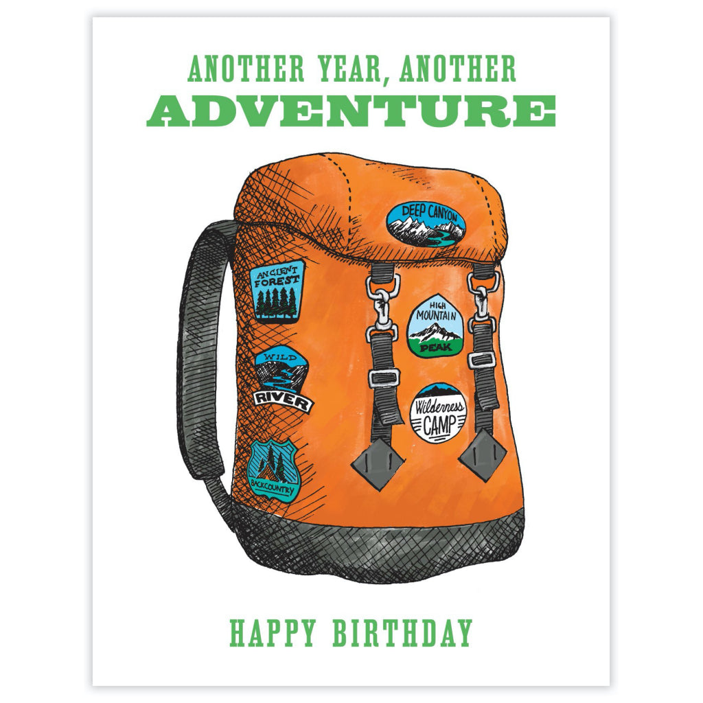 Backpack Adventure Birthday Card