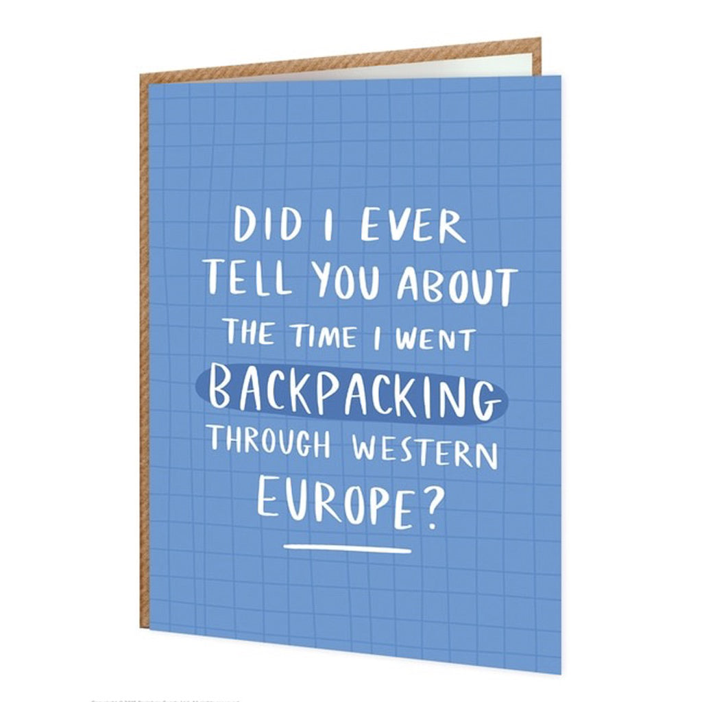 Backpacking Western Europe Card