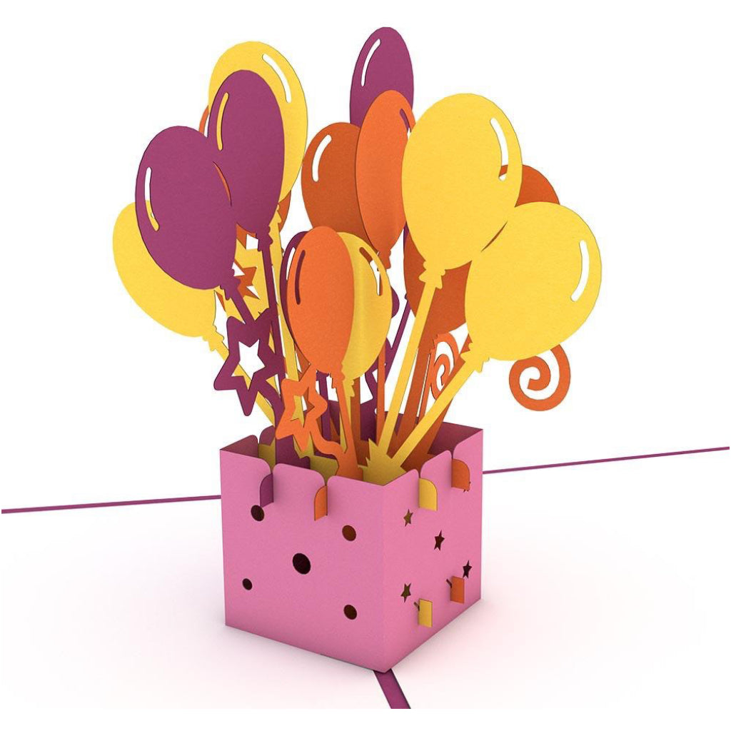 Balloon Bouquet Birthday 3D Pop Up Card