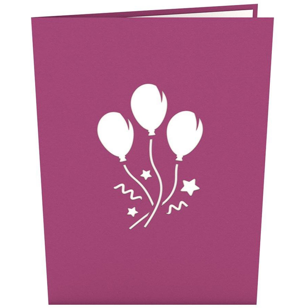 Balloon Bouquet Birthday 3D Pop Up Card Front