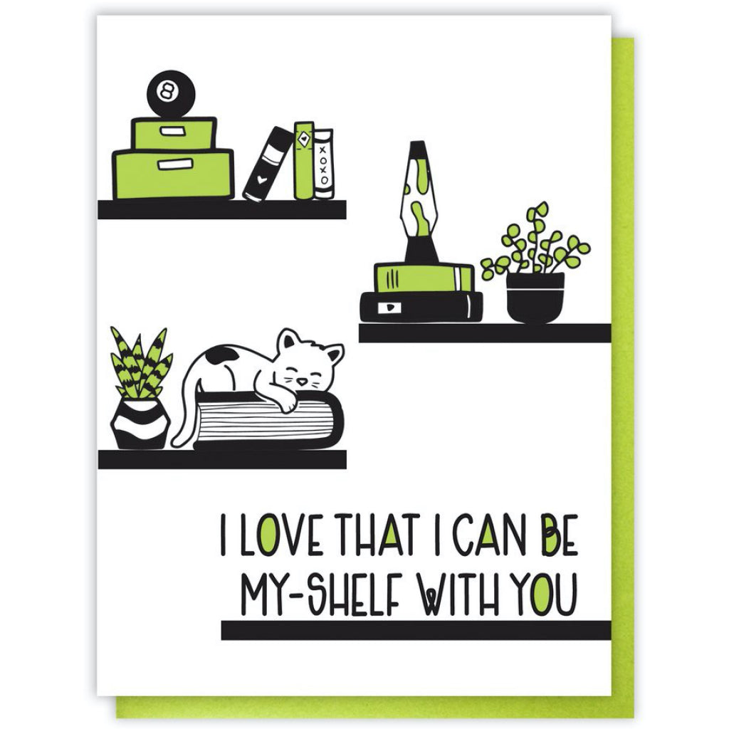 Be My Shelf Cat Card