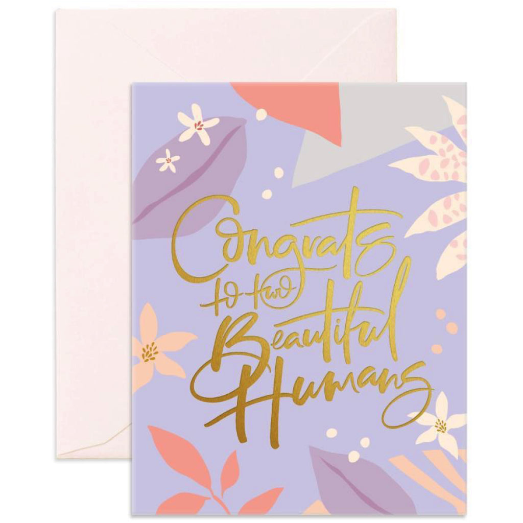 Beautiful Humans Wedding Card