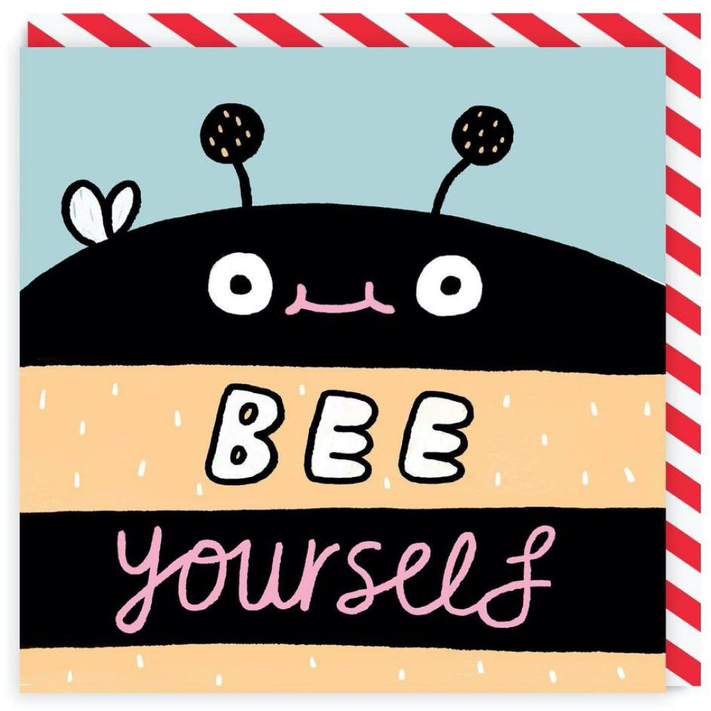 Bee Yourself Square Greeting Card