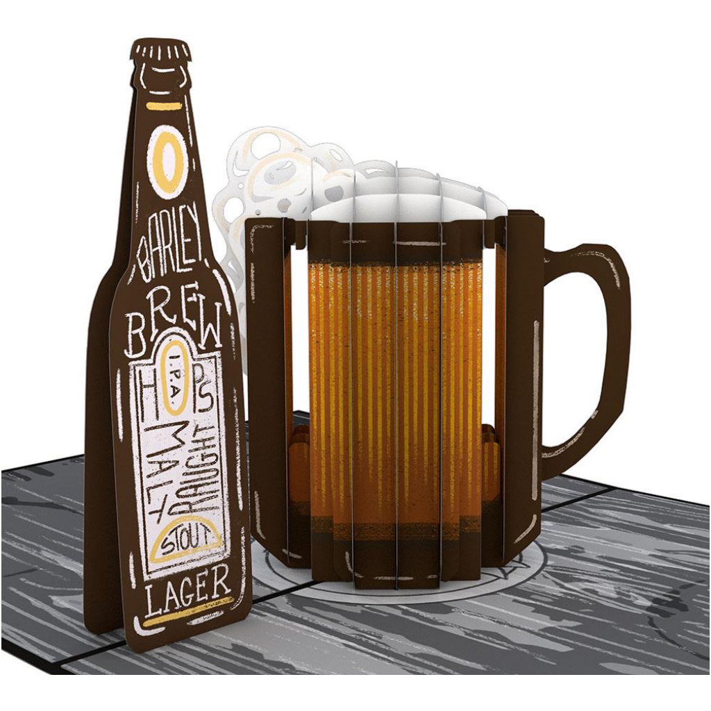 Beer 3D Pop Up Card