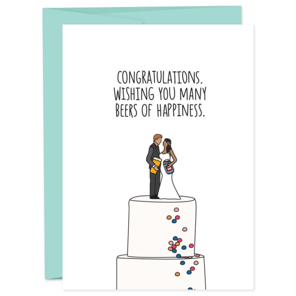 Beers of Happiness Wedding Card