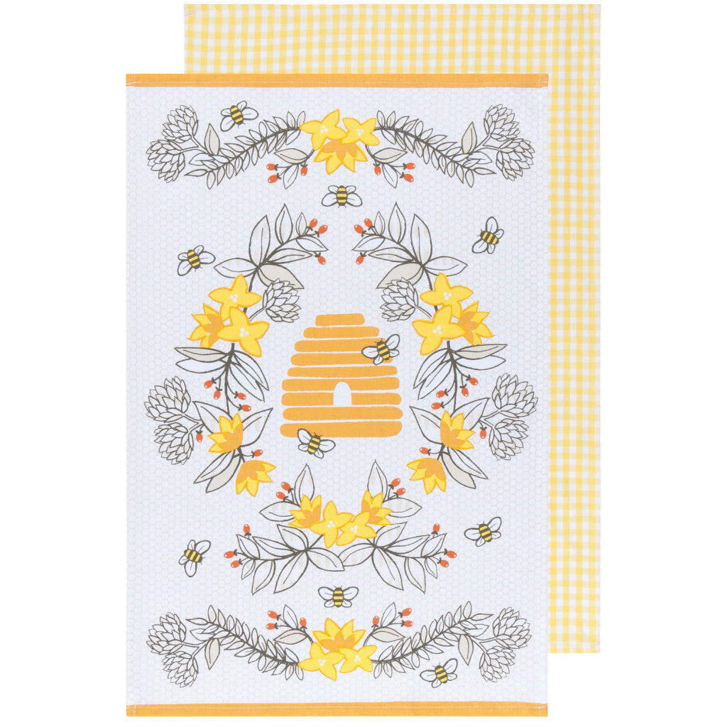 Bees Tea Towels Set of 2