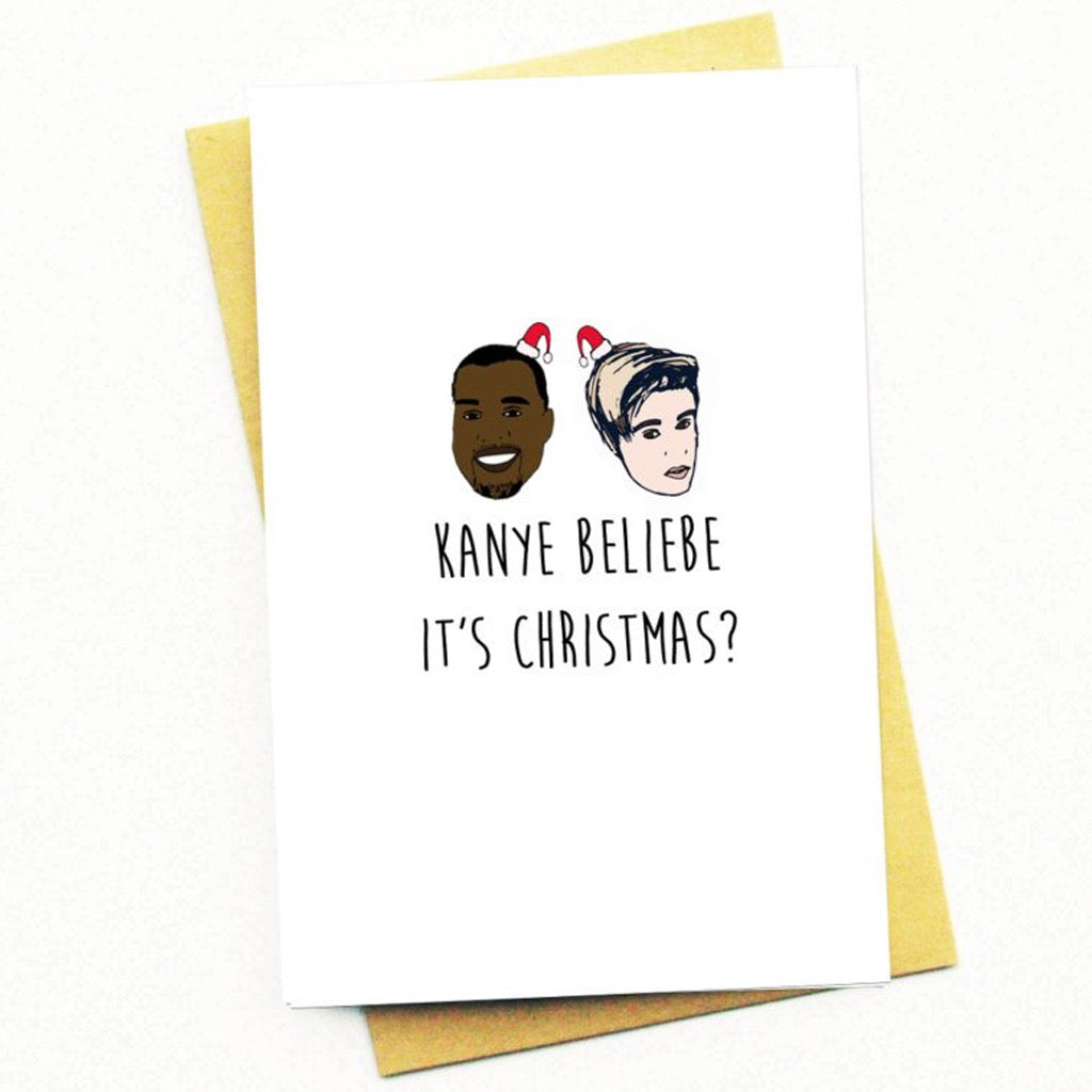 Beliebe It's Christmas Card