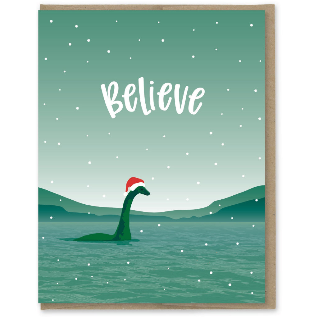 Believe Nessie Santa Card