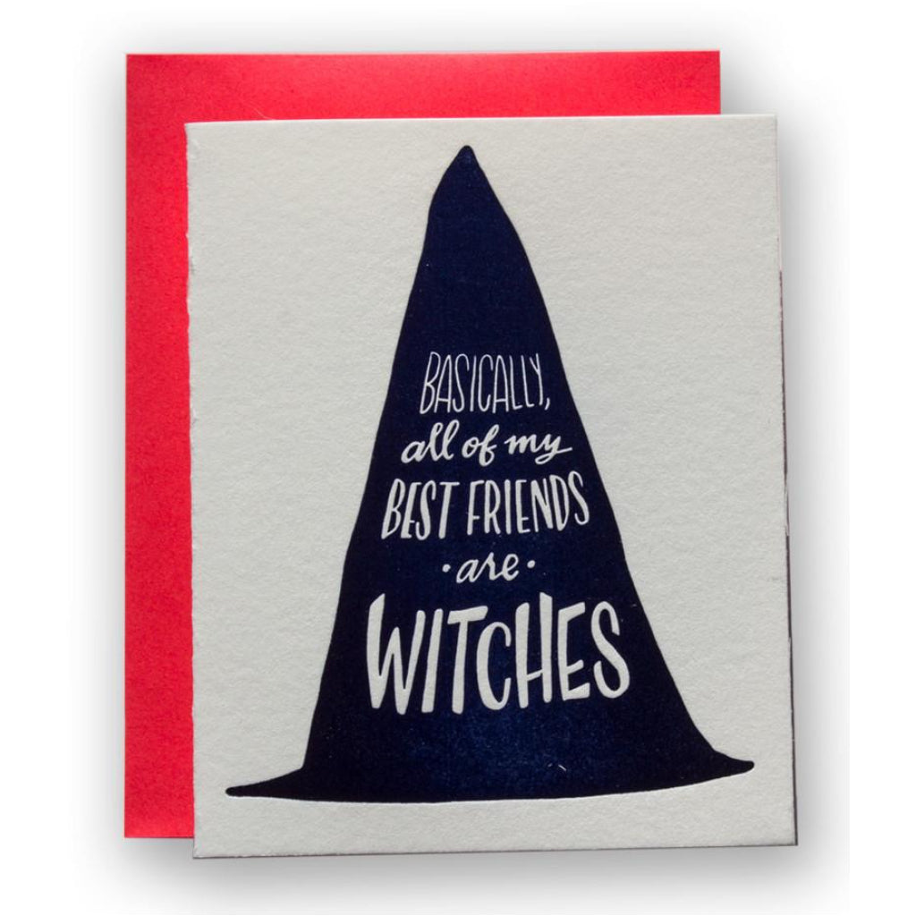 Best Friends Are Witches Card