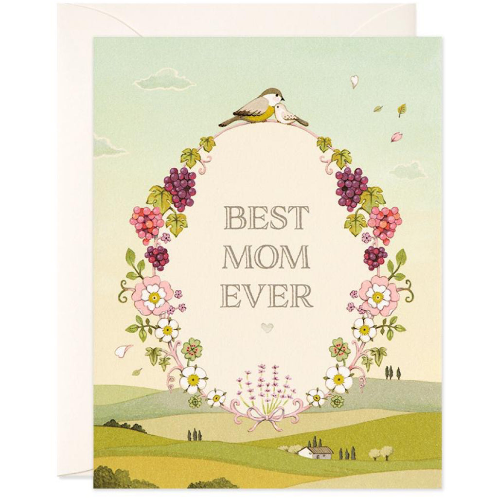 Best Mom Ever Wreath Card